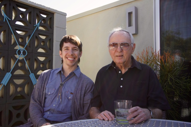 Tyler Merkel with architect Donald Wexler